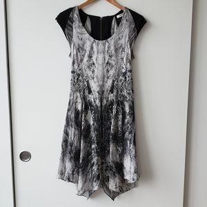 Helmut Lang Heathen Print Silk Dress
